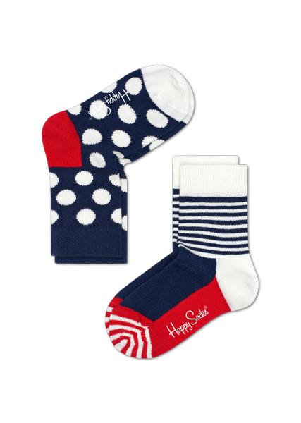 HS KIDS 2-PACK BIG DOT SOCKS
