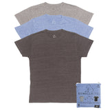 KUWALLA TEE CREW-NECK T-SHIRT 3-PACK IN TRI-BLEND COLOURS  - 8