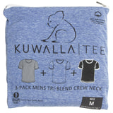KUWALLA TEE CREW-NECK T-SHIRT 3-PACK IN TRI-BLEND COLOURS  - 1