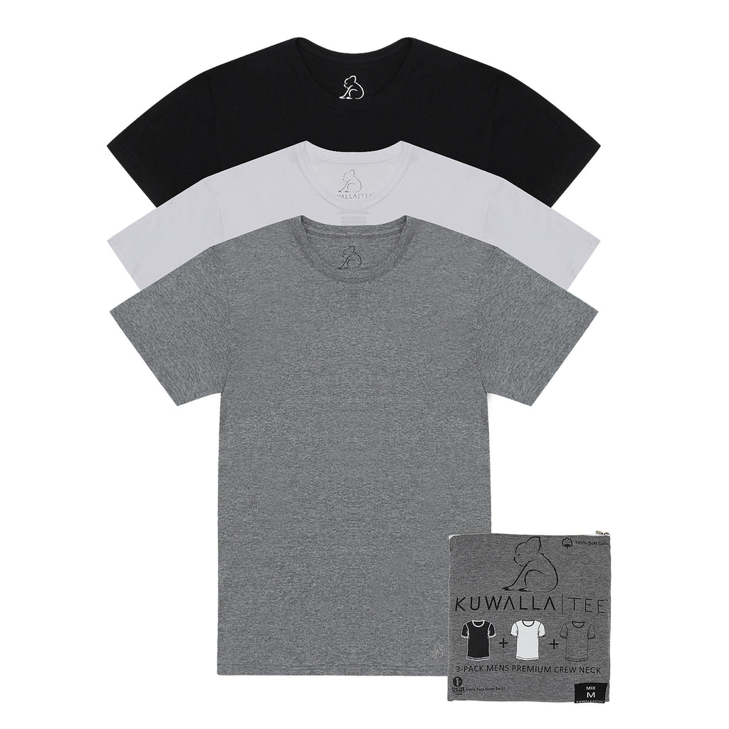 KUWALLA TEE CREW-NECK T-SHIRT 3-PACK IN TRICOLOR  - 6
