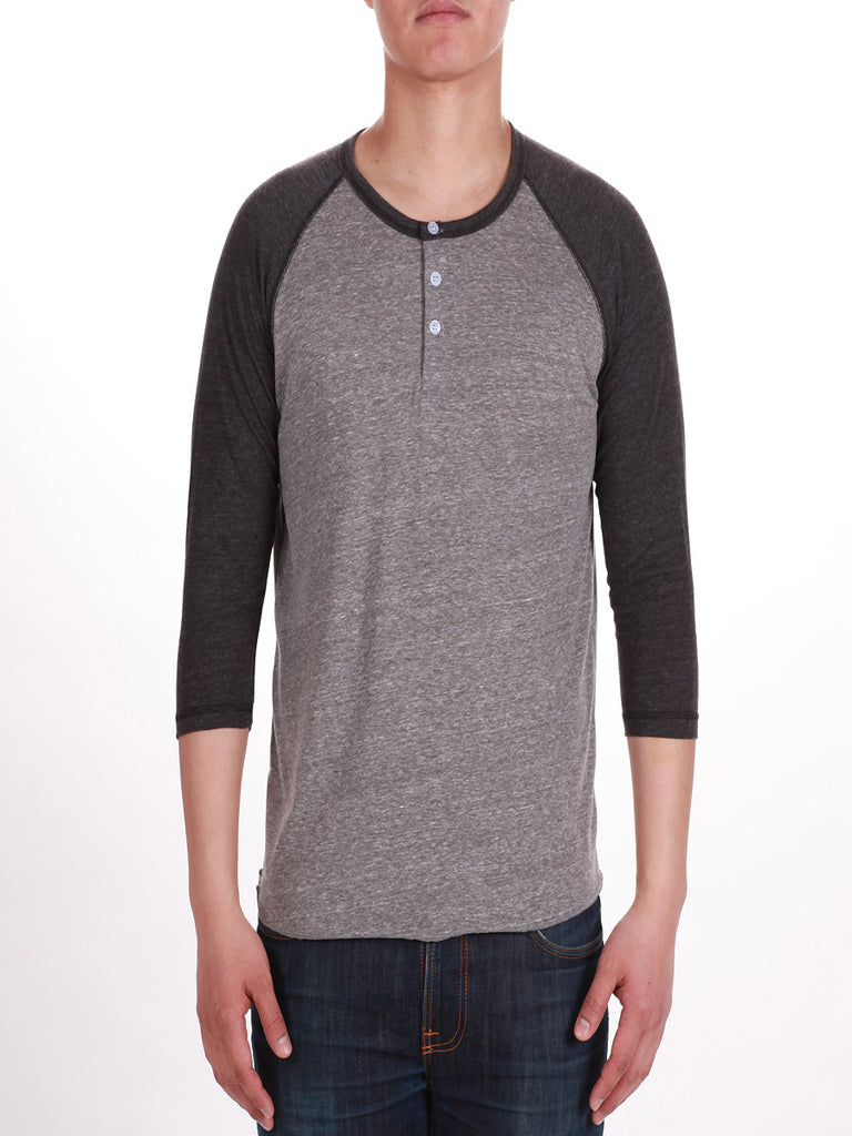 KUWALLA TEE HENLEY 2-PACK IN SALT AND PEPPER  - 2