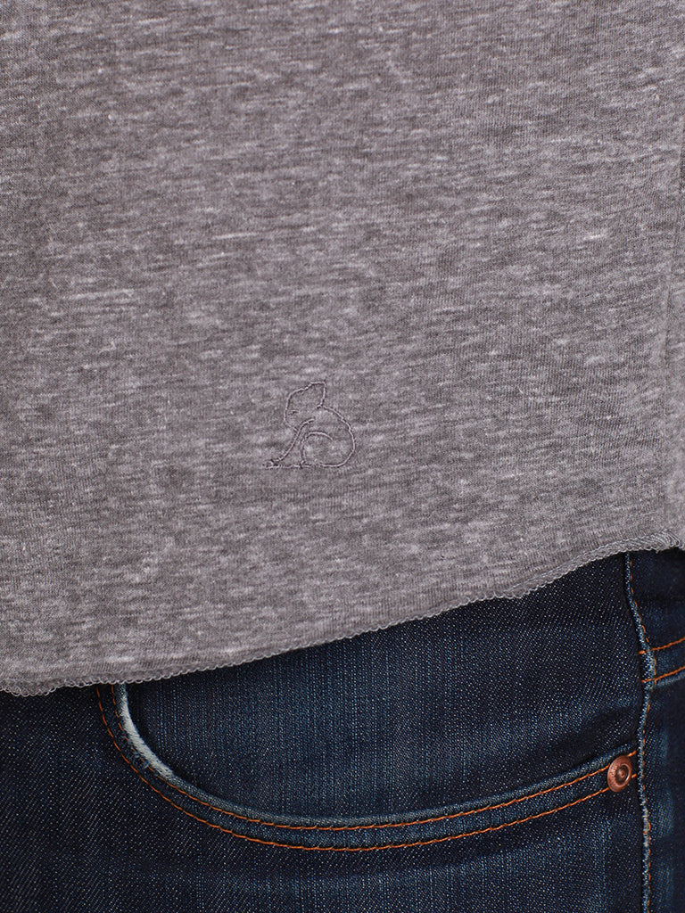KUWALLA TEE HENLEY 2-PACK IN SALT AND PEPPER  - 6