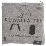 KUWALLA TEE HENLEY 2-PACK IN SALT AND PEPPER  - 1