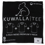 KUWALLA TEE V-NECK T-SHIRT 3-PACK IN BLACK  - 1
