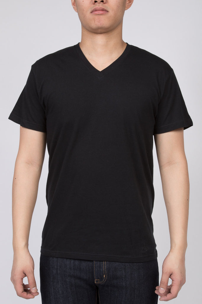 KUWALLA TEE V-NECK T-SHIRT 3-PACK IN BLACK  - 2