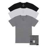 KUWALLA TEE V-NECK T-SHIRT 3-PACK IN TRICOLOR  - 6