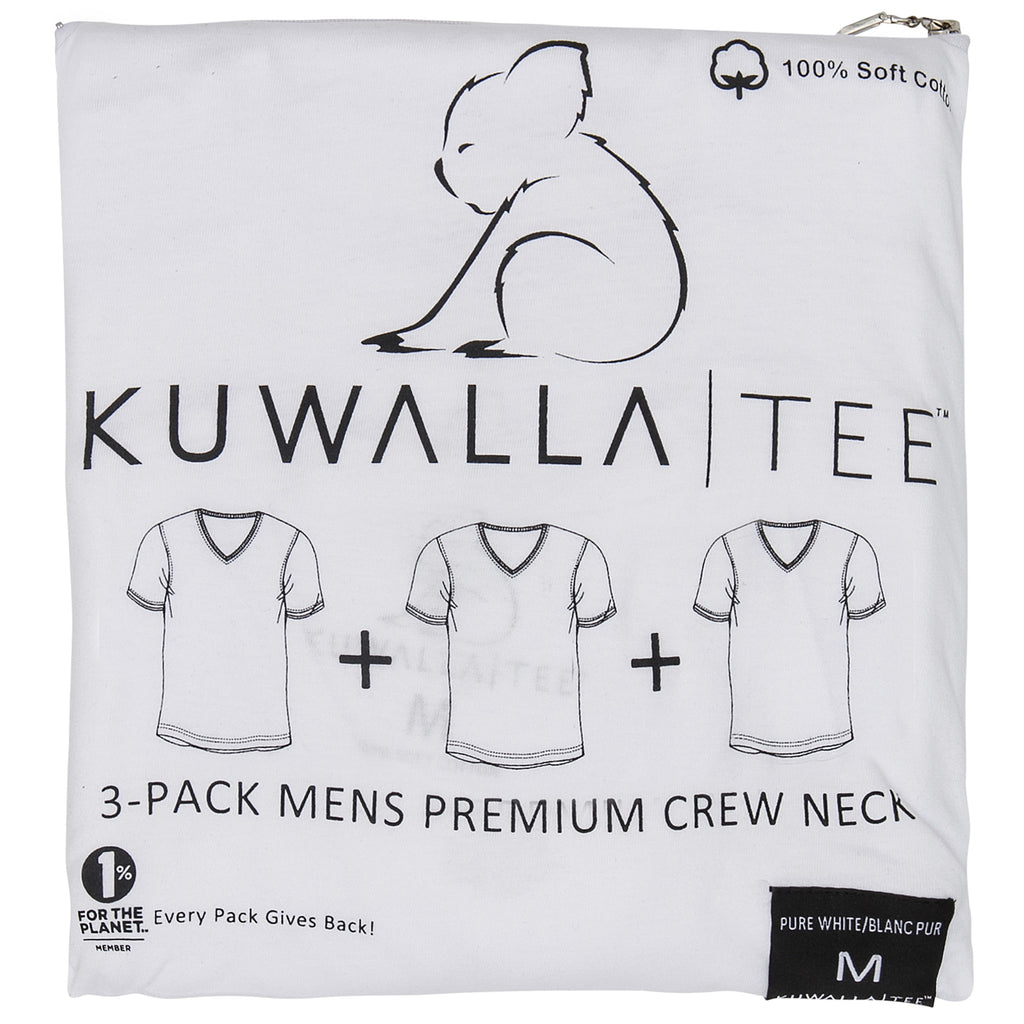 KUWALLA TEE V-NECK T-SHIRT 3-PACK IN WHITE  - 1