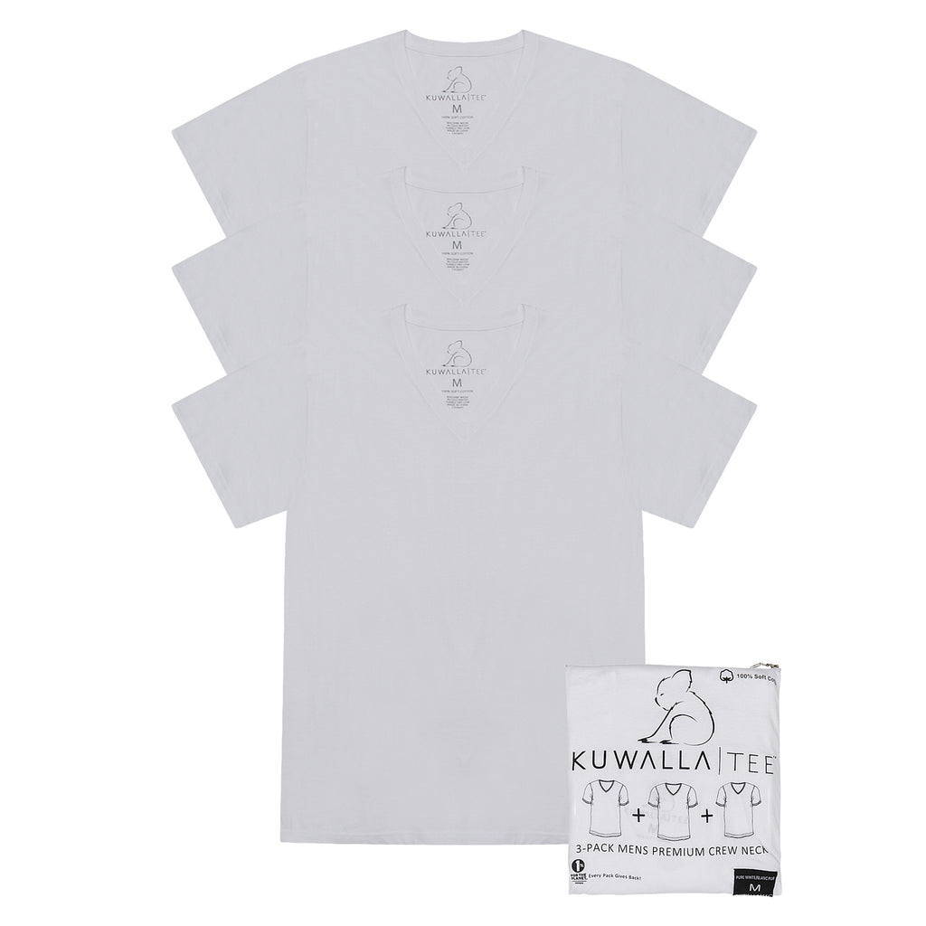 KUWALLA TEE V-NECK T-SHIRT 3-PACK IN WHITE  - 6