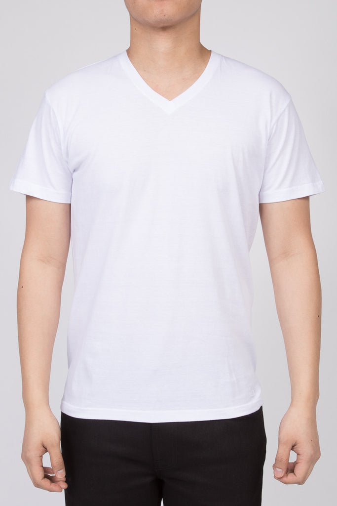 KUWALLA TEE V-NECK T-SHIRT 3-PACK IN WHITE  - 2