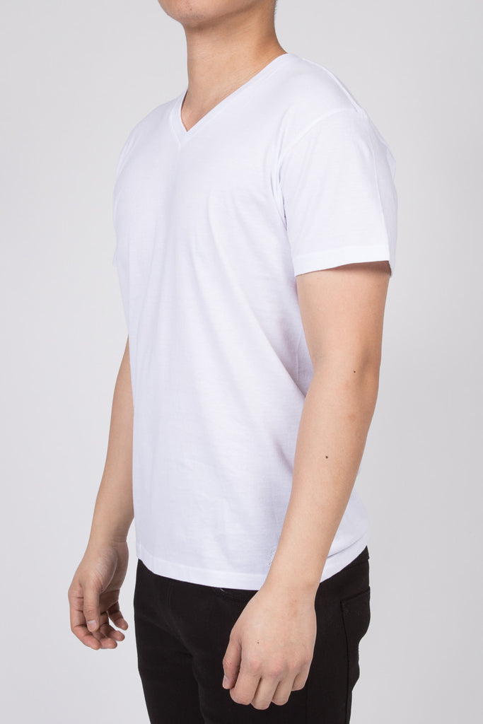 KUWALLA TEE V-NECK T-SHIRT 3-PACK IN WHITE  - 3