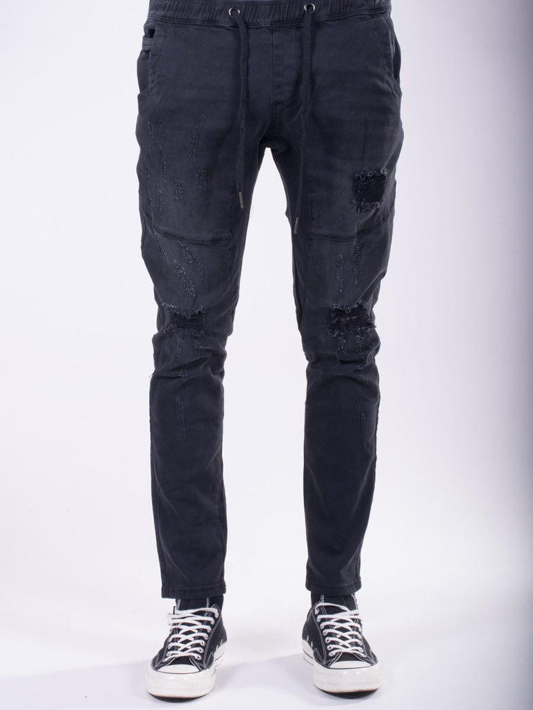 Kuwalla Tee Shotgun Open Leg Joggers in Black