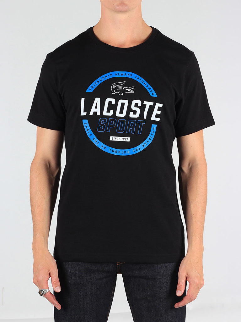 Lacoste Sport Tennis Technical Jersey T-Shirt in Black