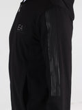 EA7 Zip-Up Sweatshirt with Conceiled Zippered Pockets in Black