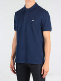 Lacoste Slim Fit Pique Polo in Midnight Navy