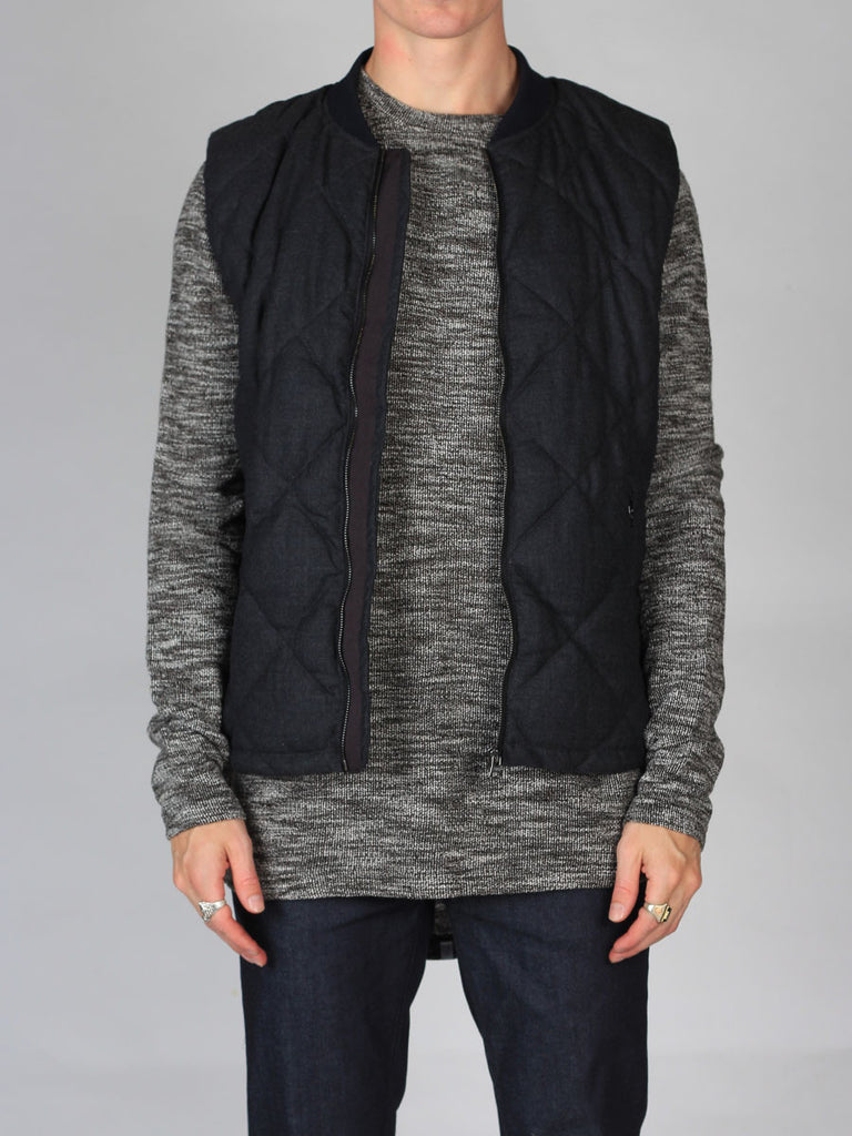 Scotch & Soda Quilted Bodywarmer Jacket in Graphite