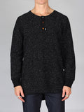 Scotch & Soda Neppy Grandad Longsleeve T-Shirt in Graphite Melange