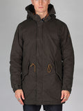 Scotch & Soda Teddy Lined Parka in Racing Green
