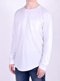 Workshop Premium Scoop Baseball Long Sleeve T-Shirt in White