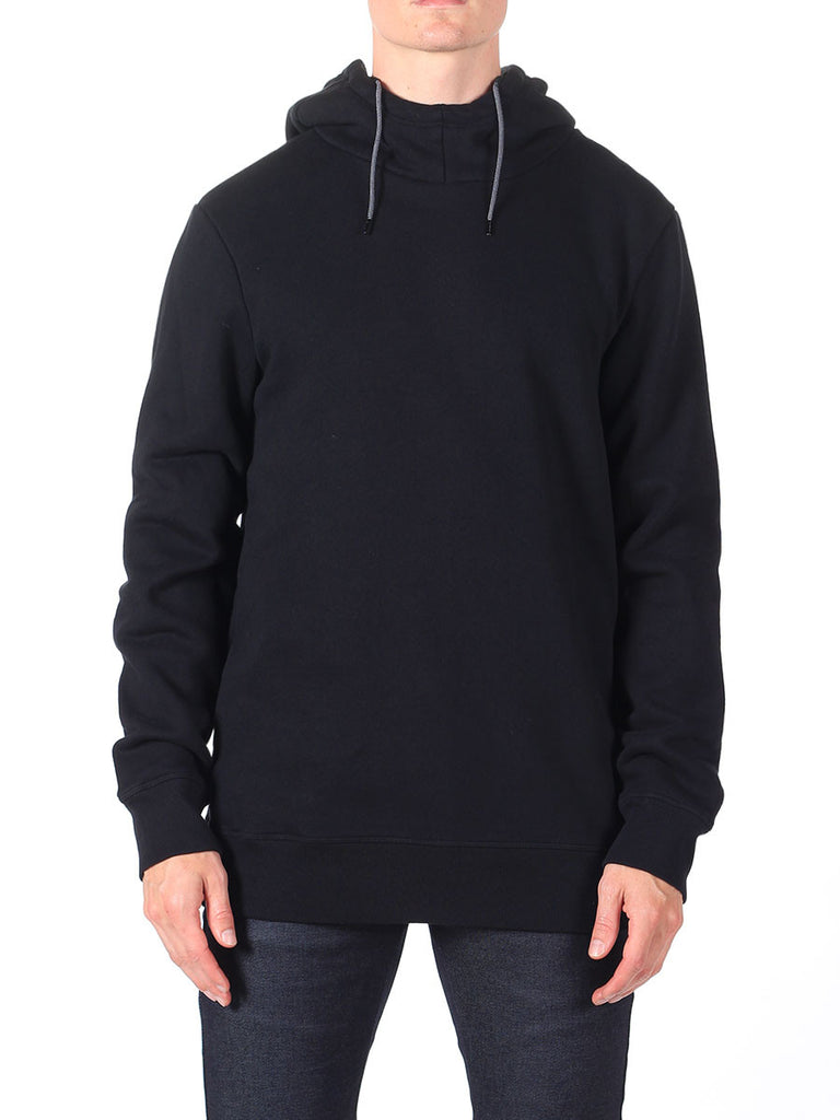 Scotch & Soda Hoodie with Side Zipper in Black  - 1