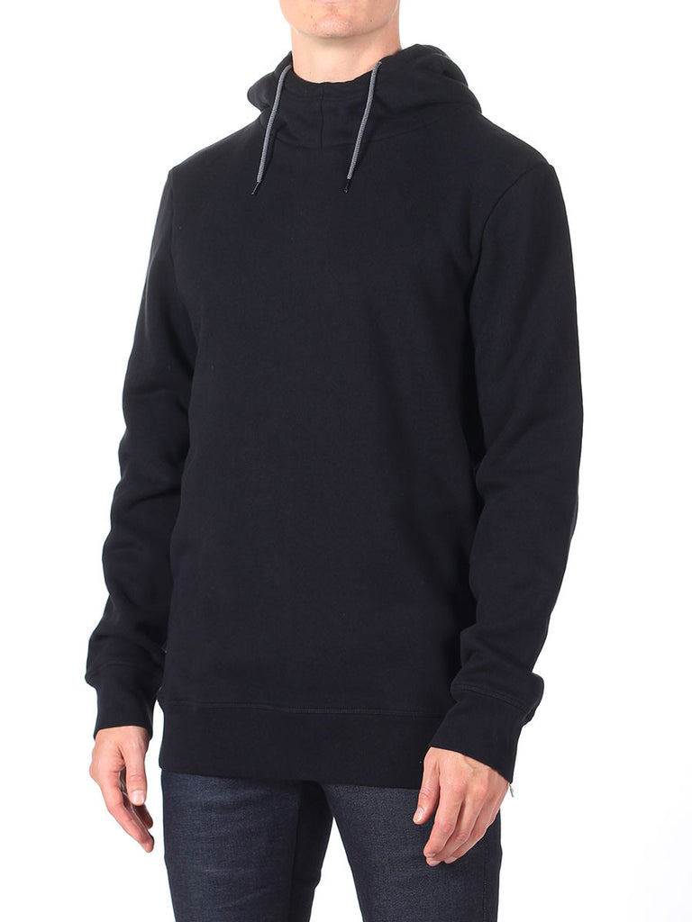 Scotch & Soda Hoodie with Side Zipper in Black  - 3