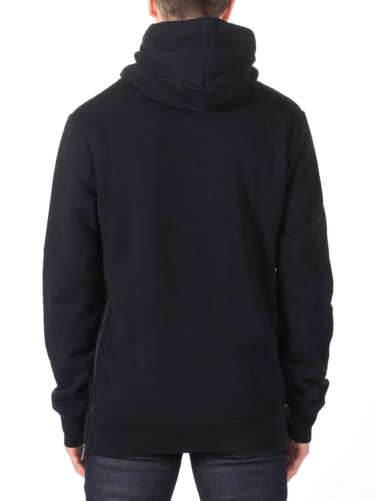Scotch & Soda Hoodie with Side Zipper in Black  - 2