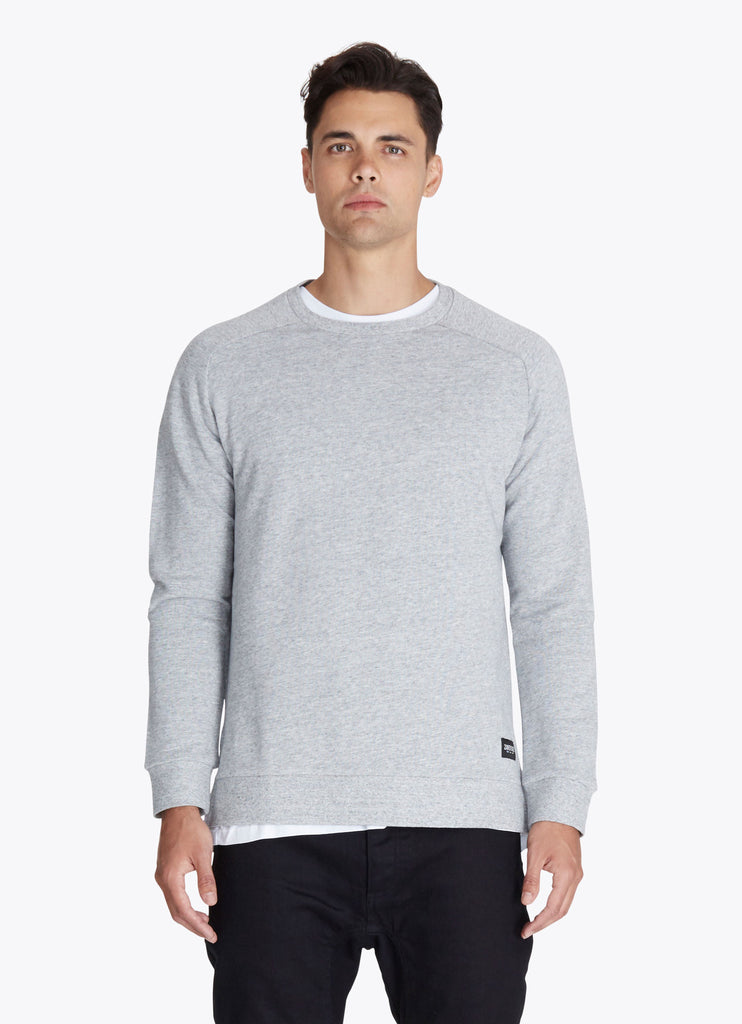 ZANEROBE FLINTLOCK CREWNECK SWEATSHIRT IN GREY MARLE