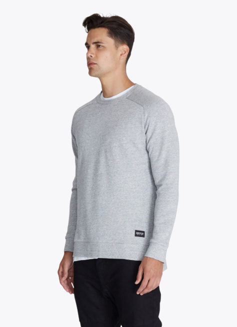 ZANEROBE FLINTLOCK CREWNECK SWEATSHIRT IN GREY MARLE  - 3