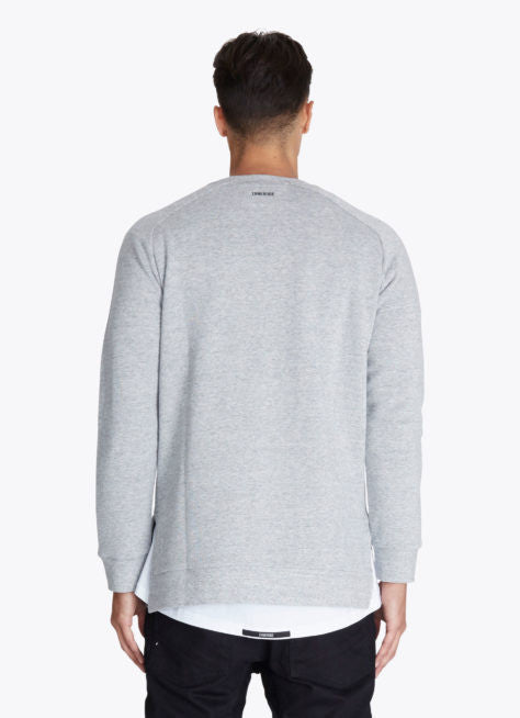ZANEROBE FLINTLOCK CREWNECK SWEATSHIRT IN GREY MARLE  - 2