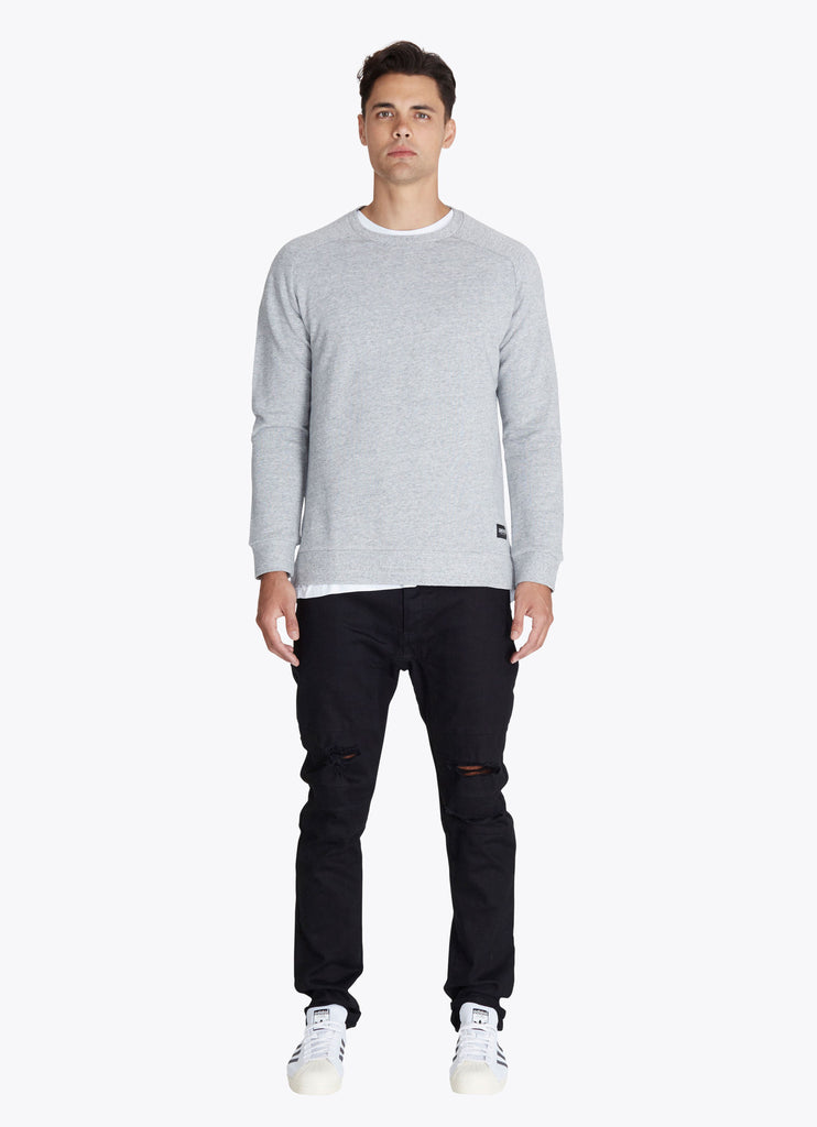 ZANEROBE FLINTLOCK CREWNECK SWEATSHIRT IN GREY MARLE  - 5
