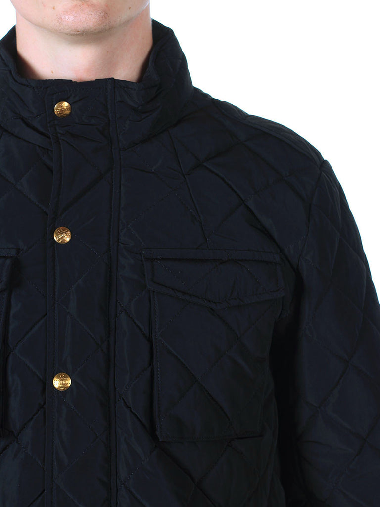 Scotch & Soda Quilted Field Jacket in Black  - 3