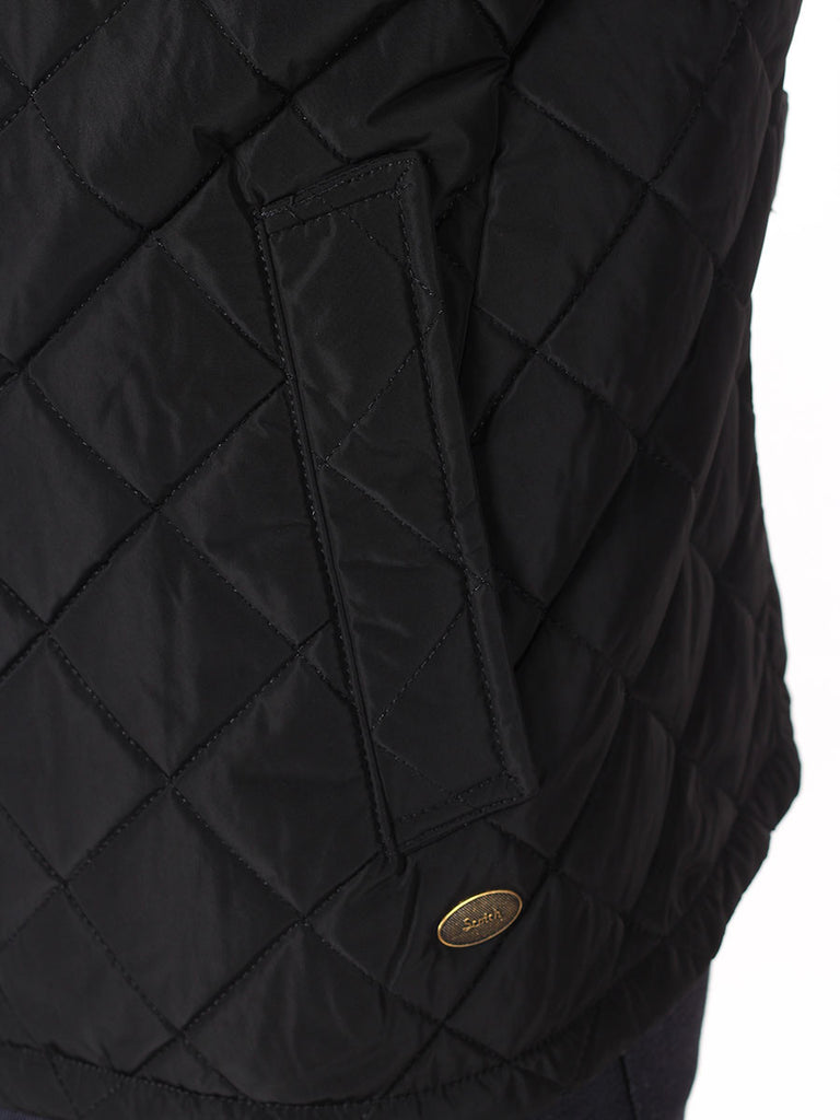 Scotch & Soda Quilted Field Jacket in Black  - 4