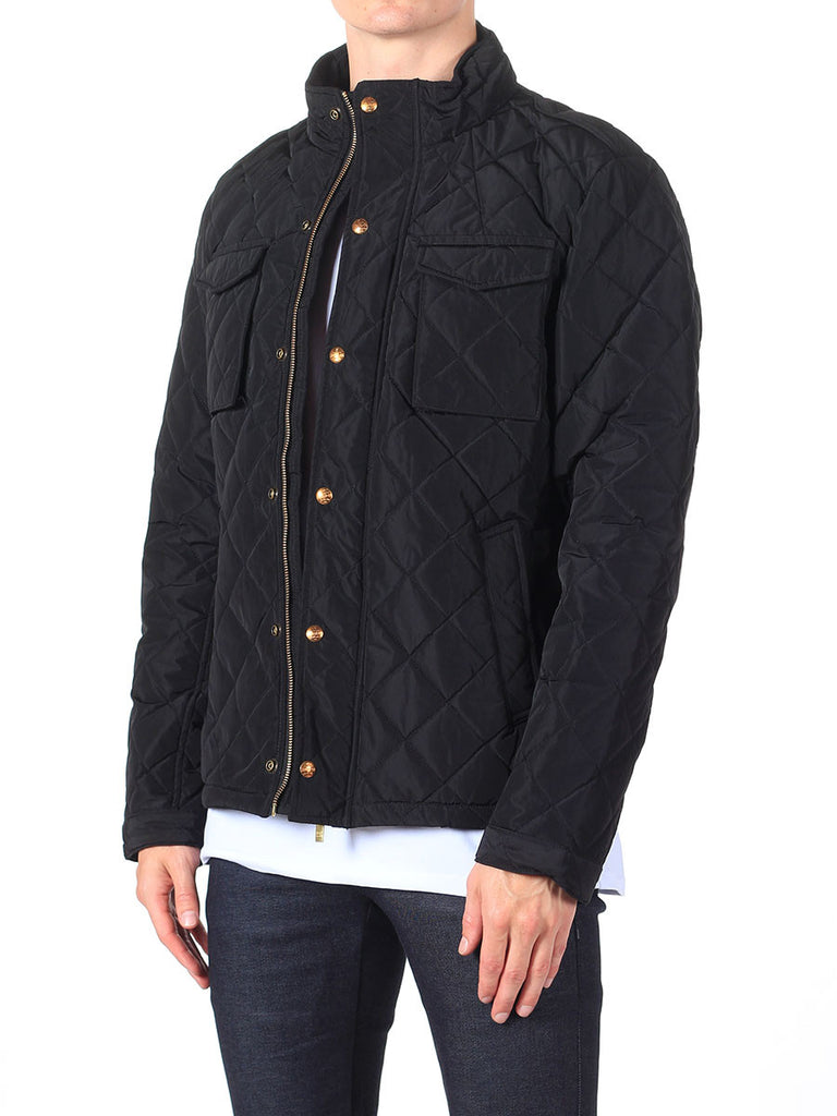 Scotch & Soda Quilted Field Jacket in Black  - 7