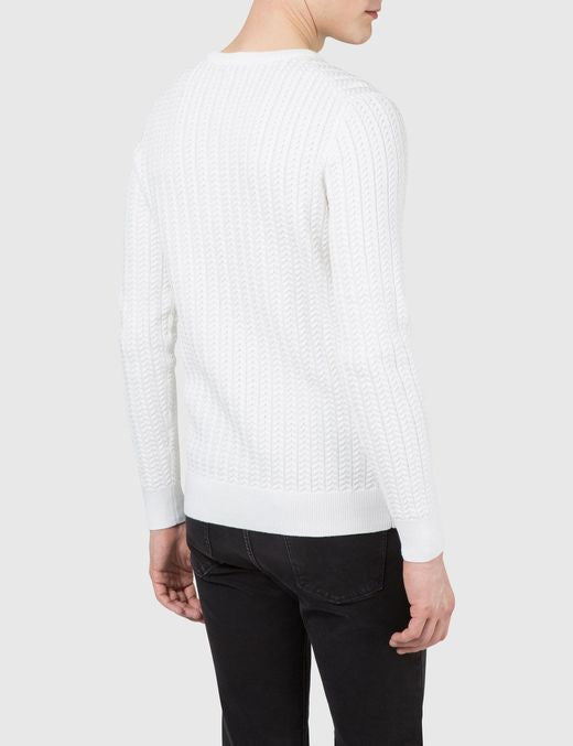 J Lindeberg Collino Cable Knit Sweater in Off White  - 2