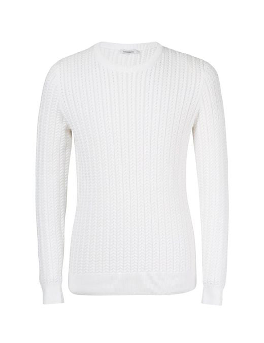 J Lindeberg Collino Cable Knit Sweater in Off White  - 4