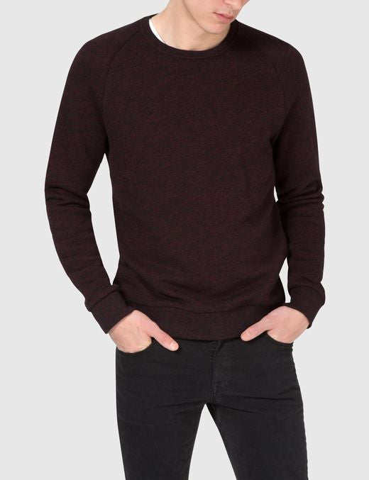 J Lindeberg Chad Flame Sweater in Black and Red  - 1