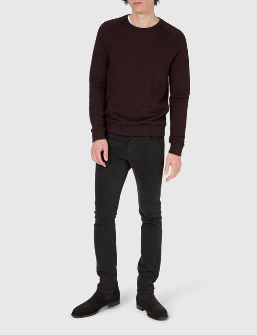 J Lindeberg Chad Flame Sweater in Black and Red  - 3