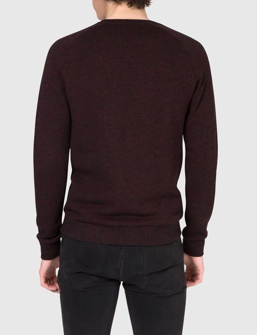 J Lindeberg Chad Flame Sweater in Black and Red  - 2