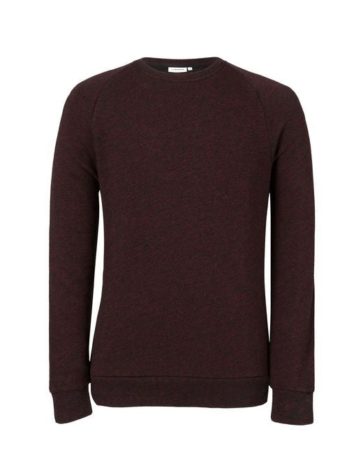 J Lindeberg Chad Flame Sweater in Black and Red  - 5