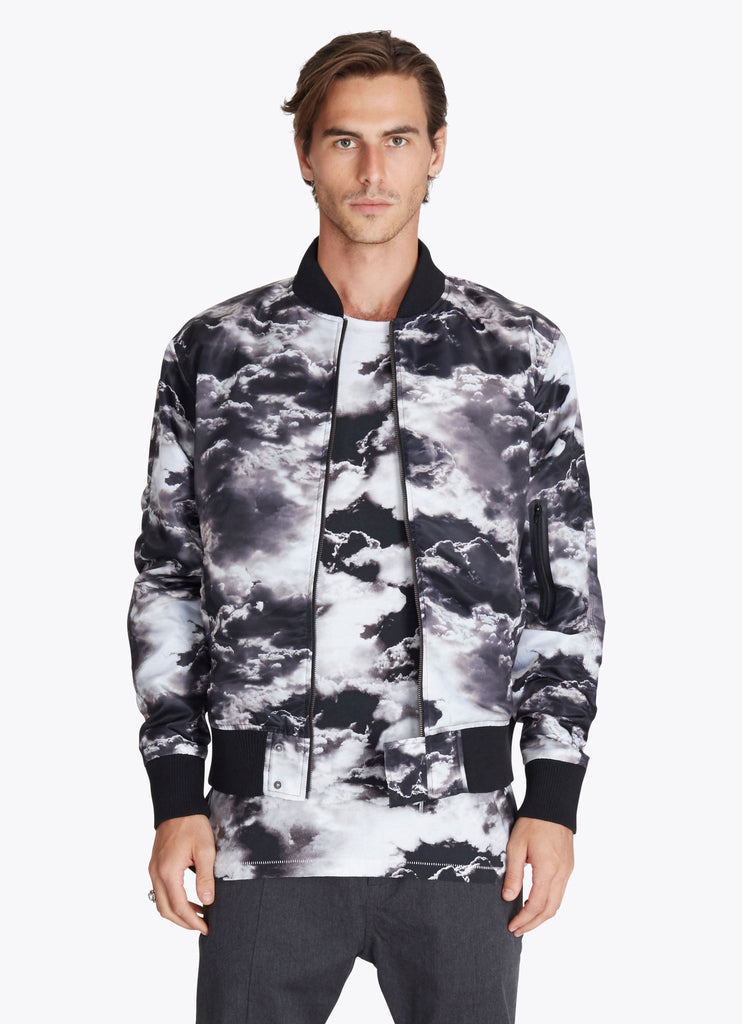 ZANEROBE FLIGHT BOMBER JACKET IN CLOUDS PRINT