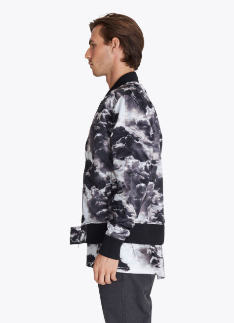 ZANEROBE FLIGHT BOMBER JACKET IN CLOUDS PRINT  - 4