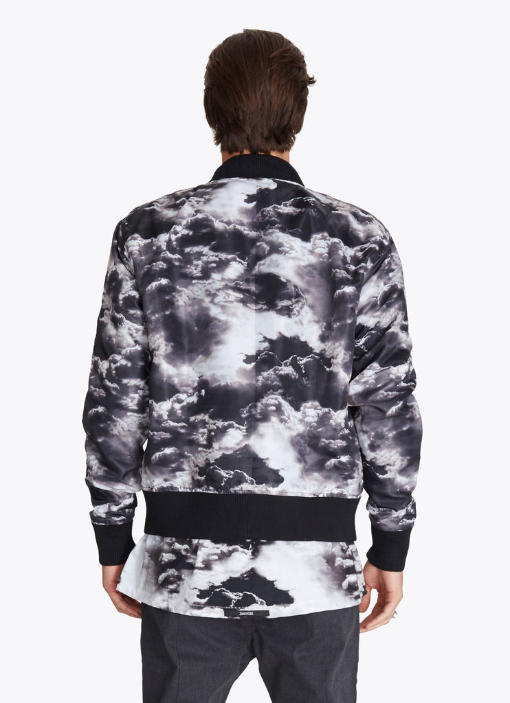 ZANEROBE FLIGHT BOMBER JACKET IN CLOUDS PRINT  - 2