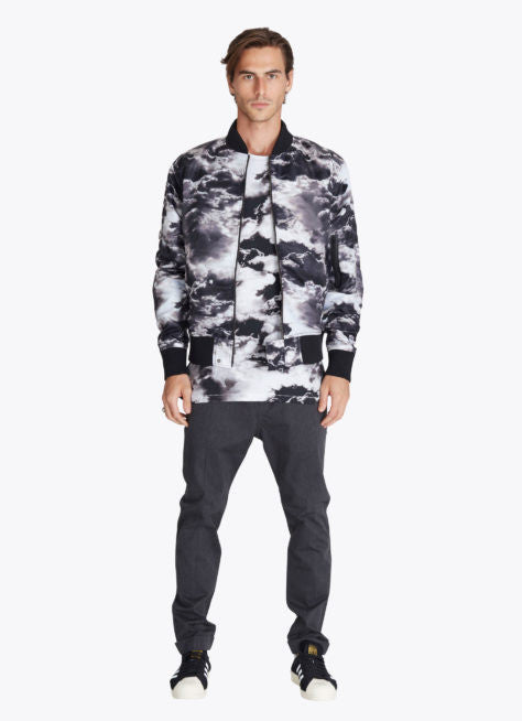 ZANEROBE FLIGHT BOMBER JACKET IN CLOUDS PRINT  - 5