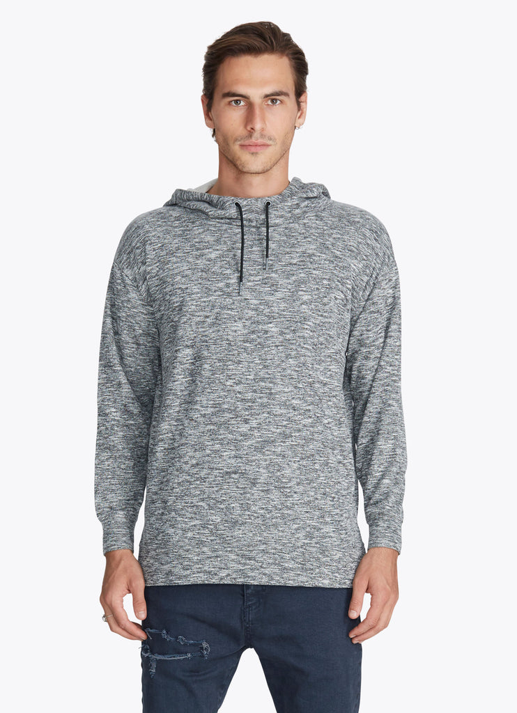 ZANEROBE RUGGER HOOD SWEATSHIRT IN STATIC GREY  - 2