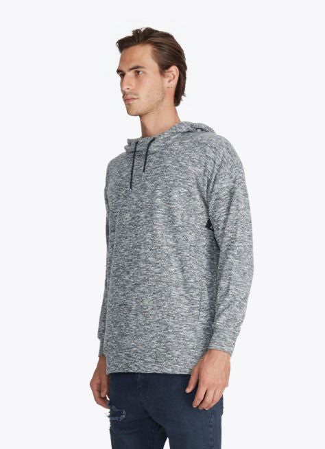 ZANEROBE RUGGER HOOD SWEATSHIRT IN STATIC GREY  - 4