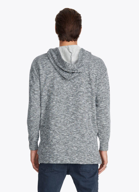 ZANEROBE RUGGER HOOD SWEATSHIRT IN STATIC GREY  - 3