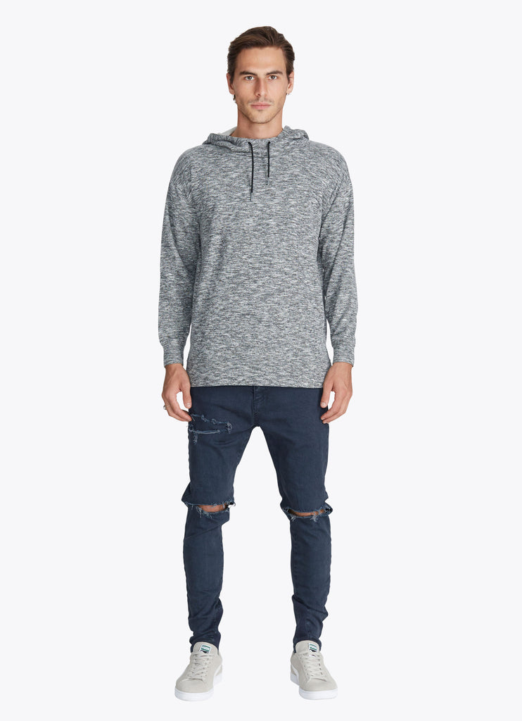 ZANEROBE RUGGER HOOD SWEATSHIRT IN STATIC GREY  - 6