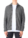 J Lindeberg Tommy Triangle Structured Cardigan in Grey Melange  - 1