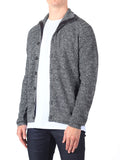 J Lindeberg Tommy Triangle Structured Cardigan in Grey Melange  - 3