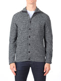 J Lindeberg Tommy Triangle Structured Cardigan in Grey Melange  - 4