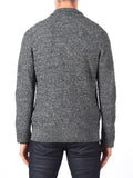 J Lindeberg Tommy Triangle Structured Cardigan in Grey Melange  - 2
